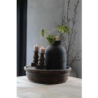 Grote authentieke stenen kruik black wash 50 cm