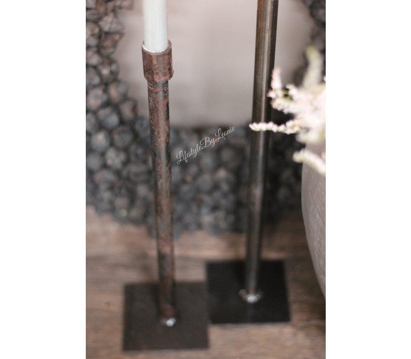 Stalen kandelaar dinerkaars 40 cm
