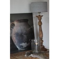 Cilinder lampenkap  Kiss grey 20 cm