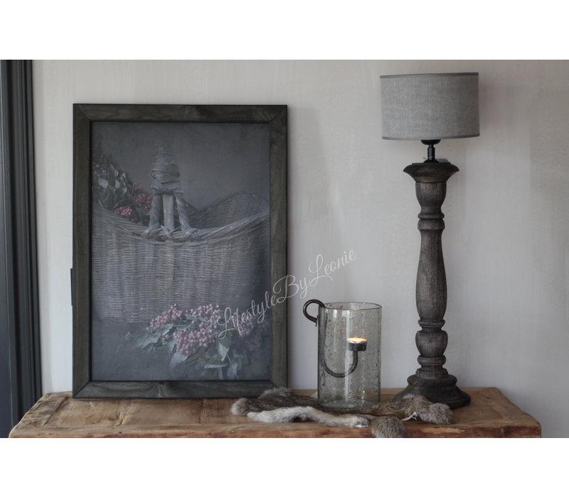 Cilinder lampenkap Kiss grey 25 cm