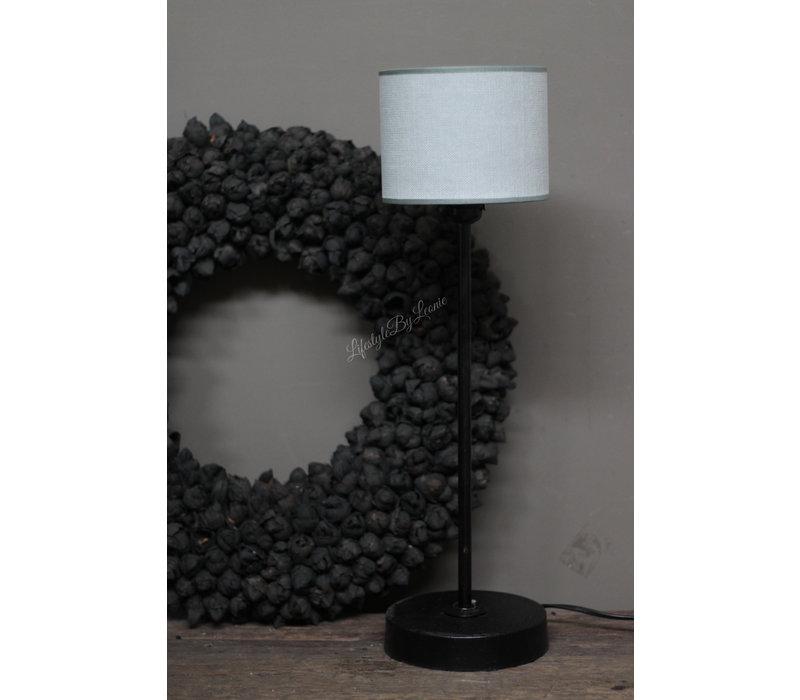 Cilinder lampenkap Kiss light grey 15 cm