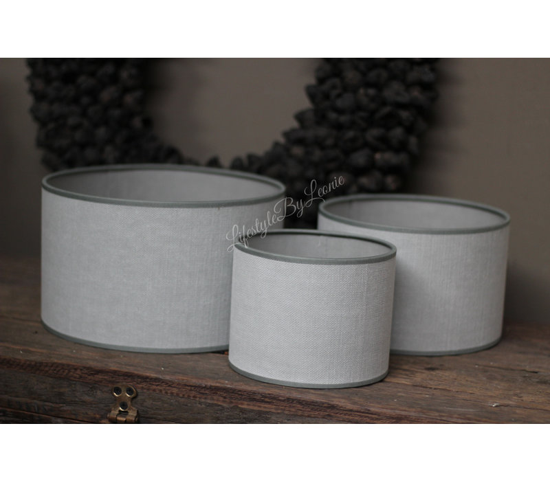 Cilinder lampenkap Kiss light grey 20 cm