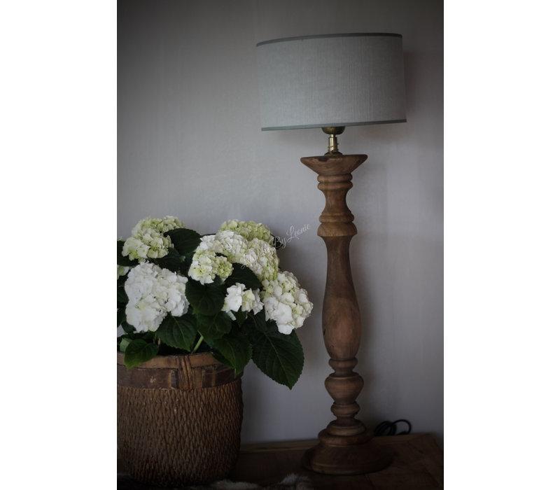 Cilinder lampenkap Kiss light grey 25 cm