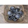 10 zwarte waxinelichtjes