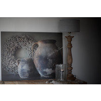 Sober houten paneel met kruiken 80 x 60 cm