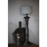 Cilinder windlicht met Metall bubbels Clarice 21 cm