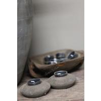 Ronde houten waxinelichthouder