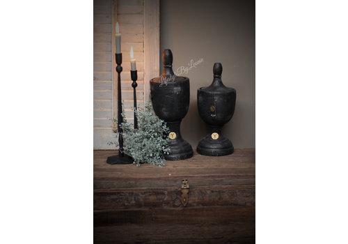 Brynxz Brynxz stenen ornament / urn industrial black 45cm