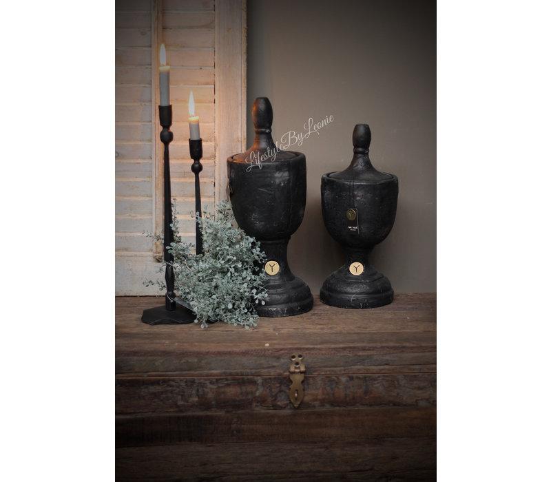 Brynxz stenen ornament / urn industrial black 45cm