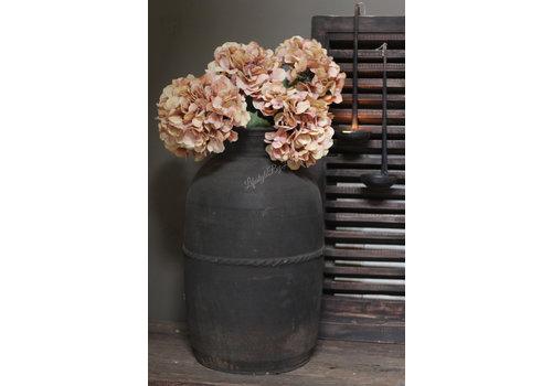Zijden hortensia tak Nude pink 61cm