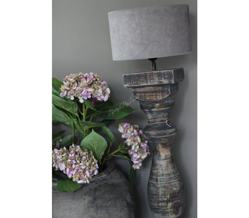 Dikke baluster lampvoet Greywash - maat M