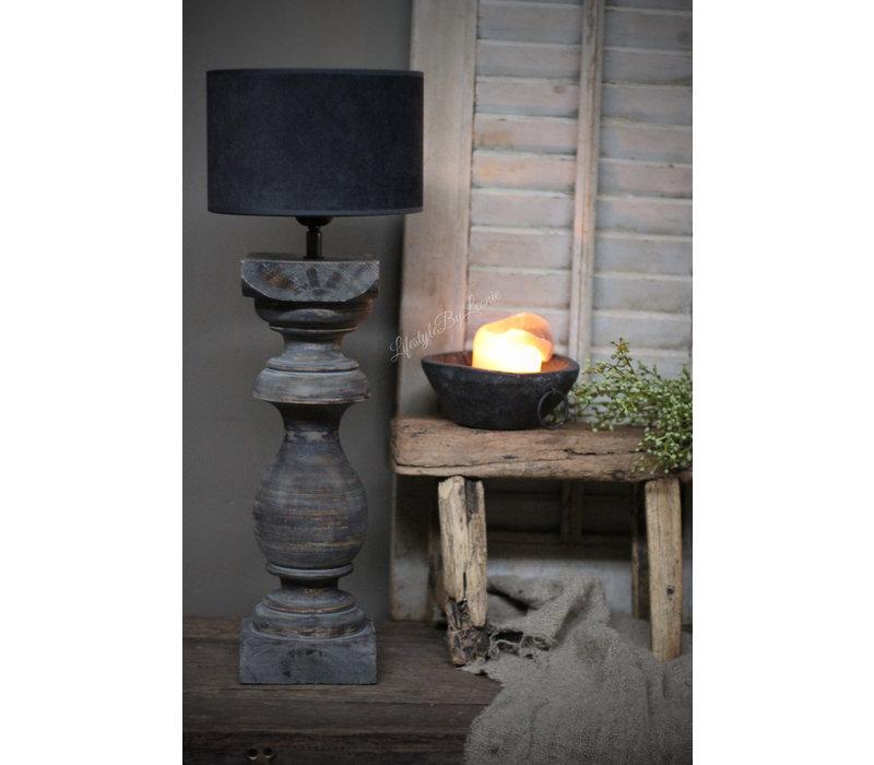 Houten baluster lampvoet Sober grey 50 cm