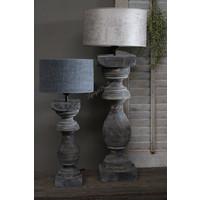 Velvet cilinder lampenkap Leem 30 cm