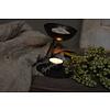 Zwart metalen brander voor geurblokje of waxinelichtje