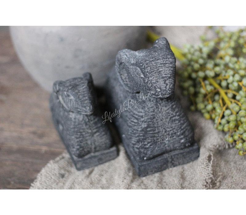 Liggende stenen ram Black - maat S
