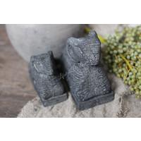 Liggende stenen ram Black - maat M