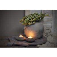 Houten Indiase schaal Old grey 45 cm