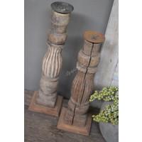 Aura Peeperkorn baluster kandelaar Old wood
