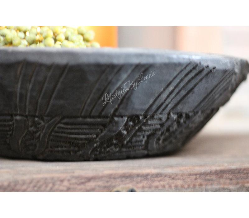 Aura Peeperkorn houten Indiase schaal Black