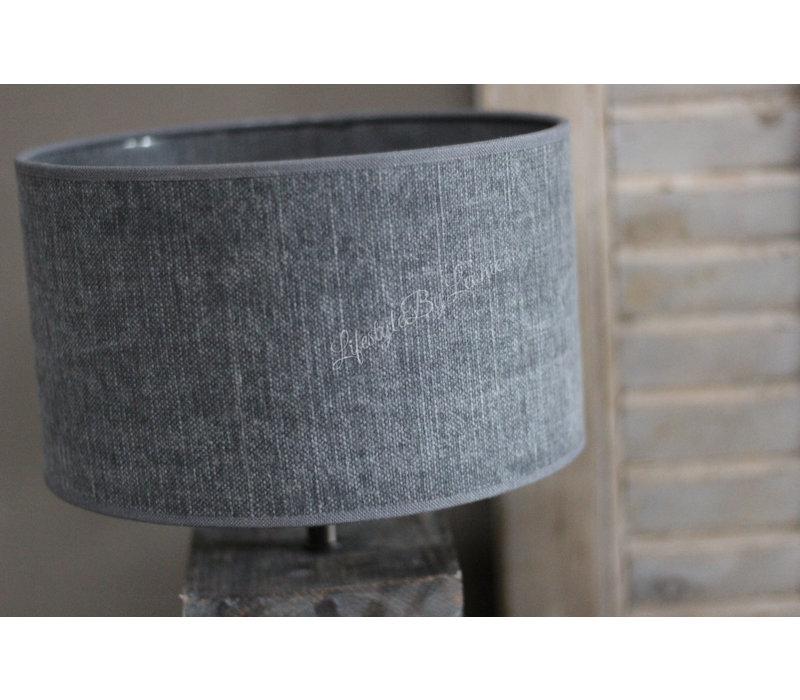 Cilinder lampenkap Kiss Dark grey 25 cm