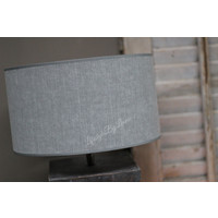 Cilinder lampenkap Kiss grey 30 cm
