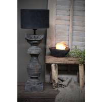 Velours cilinder lampenkap Antraciet 20 cm