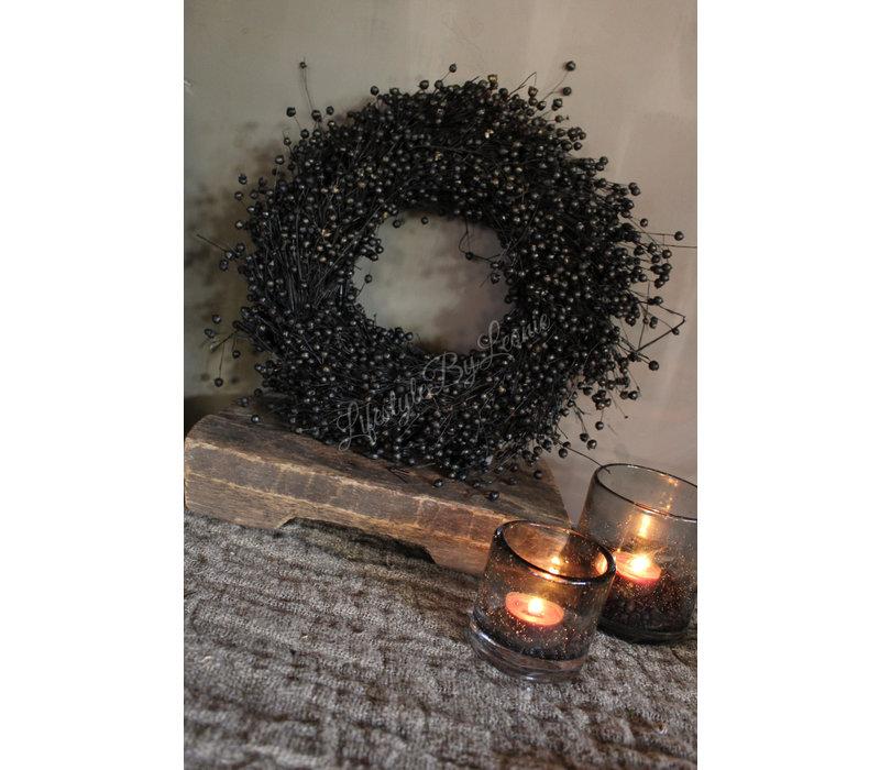 Vlaskrans zwart 30 cm