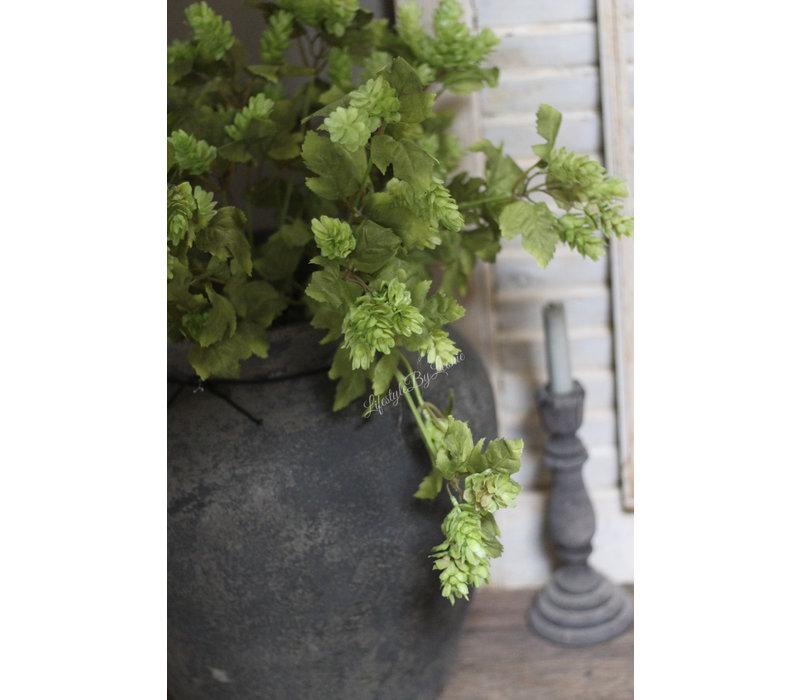 Zijden groene Hop tak 77 cm