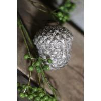 Glazen dennenappel ornament Old grey 7,5 cm