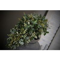 Toef met Steeneik, Eucalyptus en dadeltak - maat L