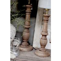 Baluster lampvoet Dark naturel wood 50cm