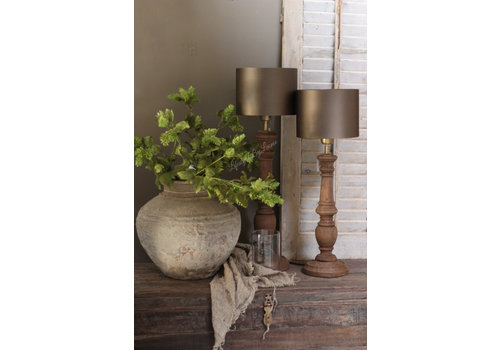 Baluster lampvoet Dark naturel wood 50 cm