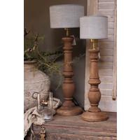 Baluster lampvoet Dark naturel wood 55cm