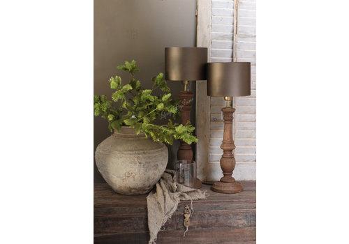 Baluster lampvoet Dark naturel wood 55 cm