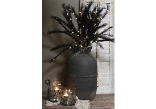 Tak namaak gras zwart met LED 72 cm