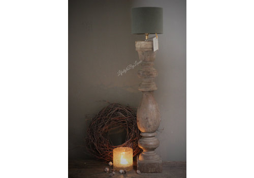 Aura Peeperkorn cilinder lampenkap Sage green 15 cm