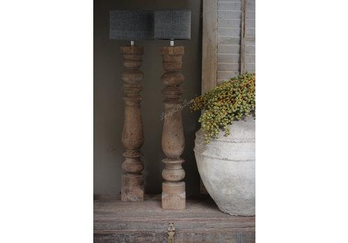 Cilinder lampenkap Kiss Dark grey 20 cm