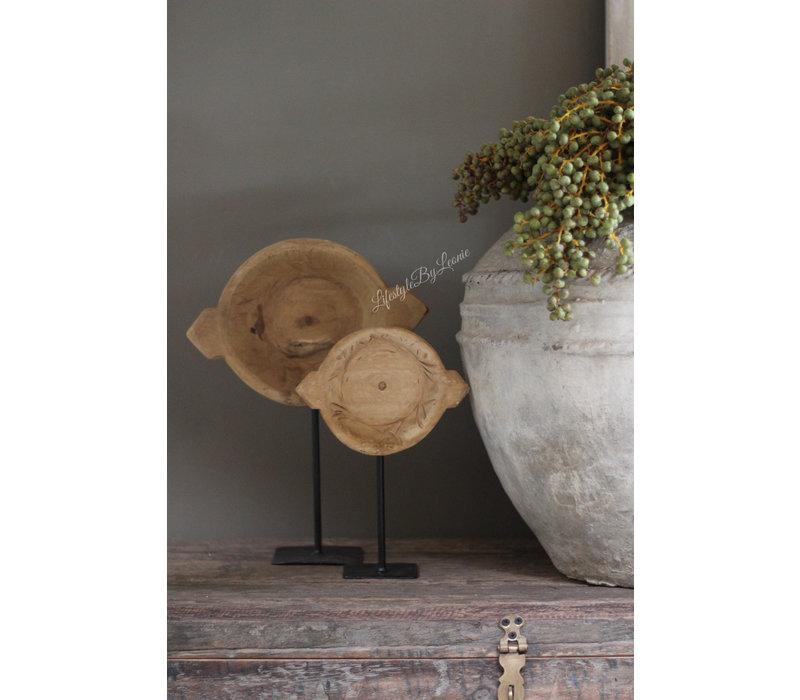 Ronde chapati plate op voet 28 cm