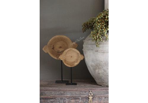 Ronde chapati plate op voet 38 cm