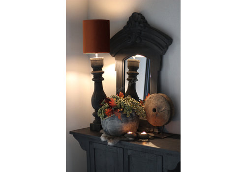 Aura Peeperkorn baluster lampvoet Black wood