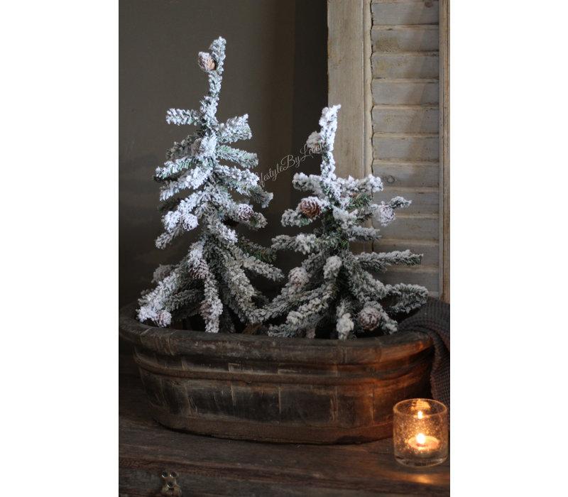 Namaak kerstboom met dennenappeltjes 39 cm