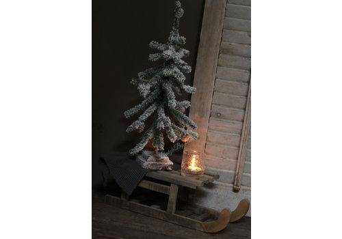 Namaak kerstboom met dennenappeltjes 51 cm