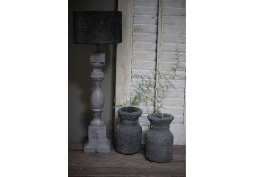 Baluster lampvoet light grey wash 52 cm