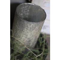 Cilinder windlicht Old gold craquelé 21 cm