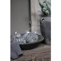 Glazen kerstbal in ijzer frame Sober soda 15 cm
