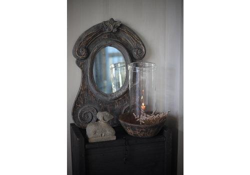 Ossenoog spiegel Oeil du boeuf old grey 62 cm
