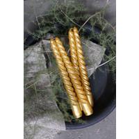 Dinerkaars Swirl gold rush - 4 stuks