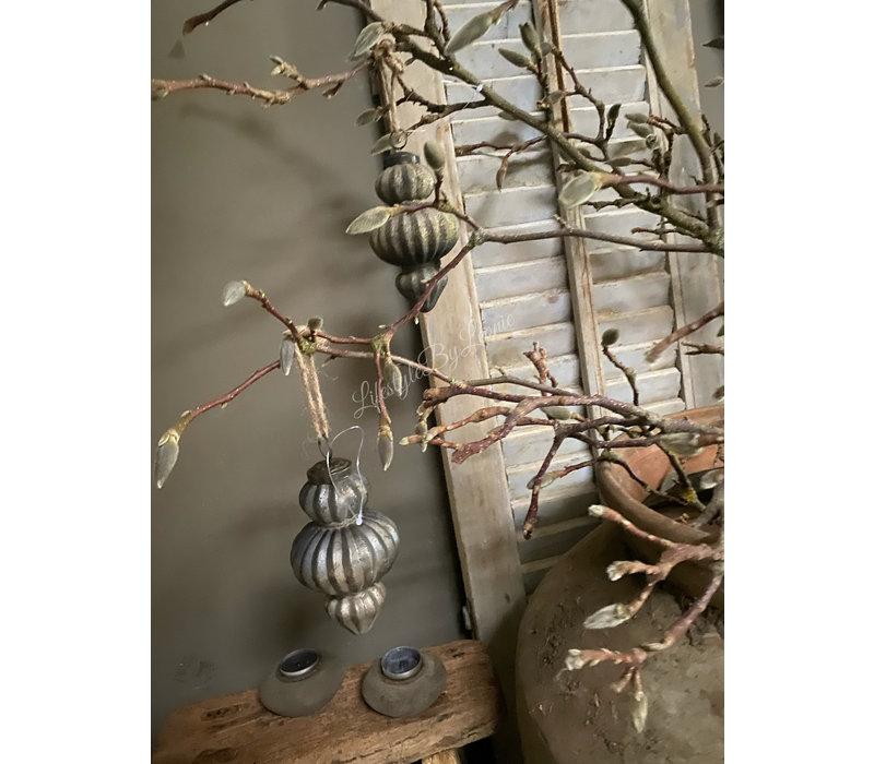Glazen kerstbal ornament Sober soda 13 cm