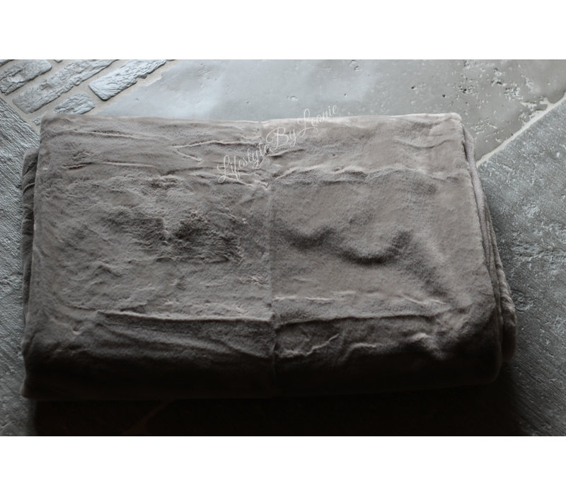 Namaak bont plaid Soft fur grijs 170 cm
