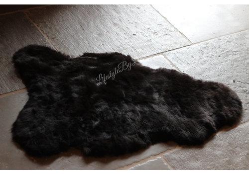 IJslandse schapenvacht Black kortharig